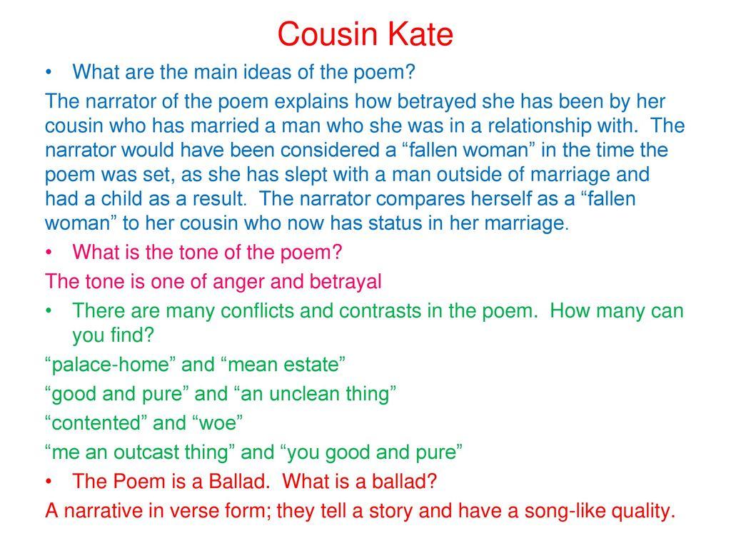cousin kate poem text