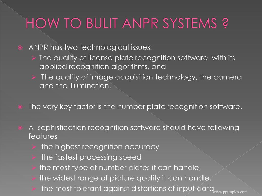 AUTOMATIC NUMBER PLATE RECOGNITION SYSTEM - ppt download