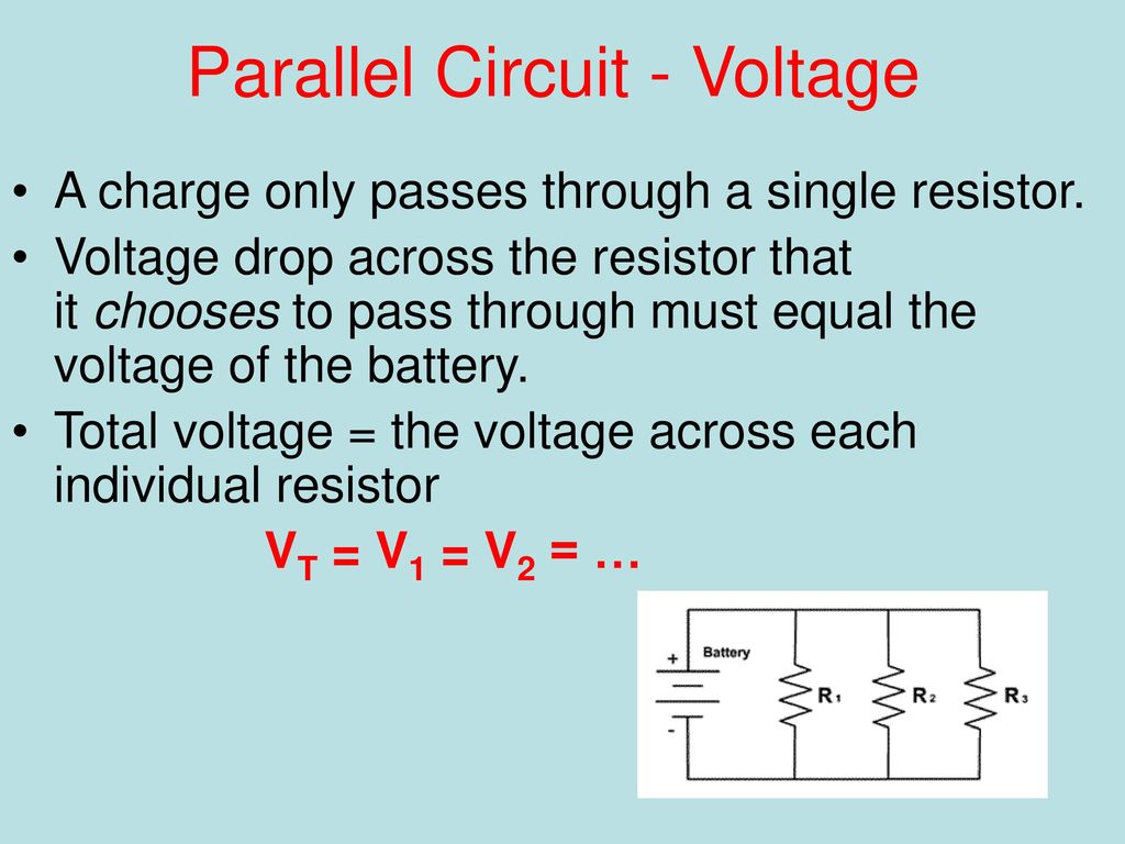 Series And Parallel How We Wire The World Ppt Download Voltage In A Circuit