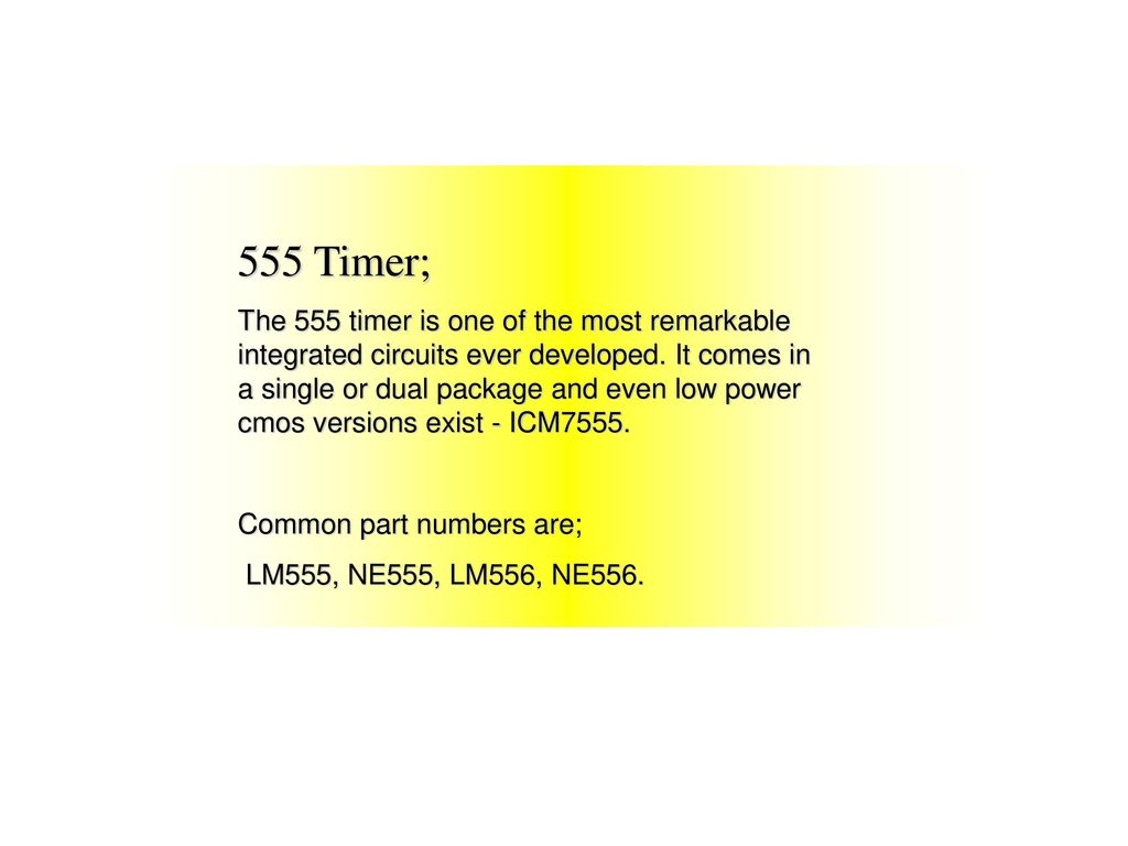 555 Timer Ppt Download Cmos 4017 Sequential
