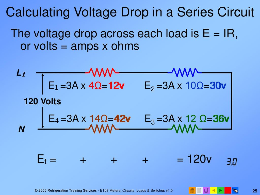 E1 Electrical Fundamentals Ppt Download Dc Series Circuit Calculating Voltage Drop In A