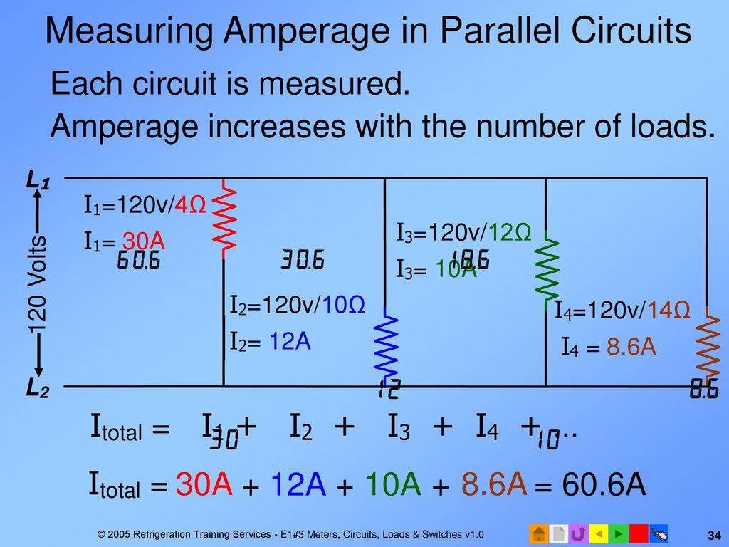 E1 Electrical Fundamentals Ppt Download Some Parallel Circuits Have Switches In As The Circuit Shown Measuring Amperage
