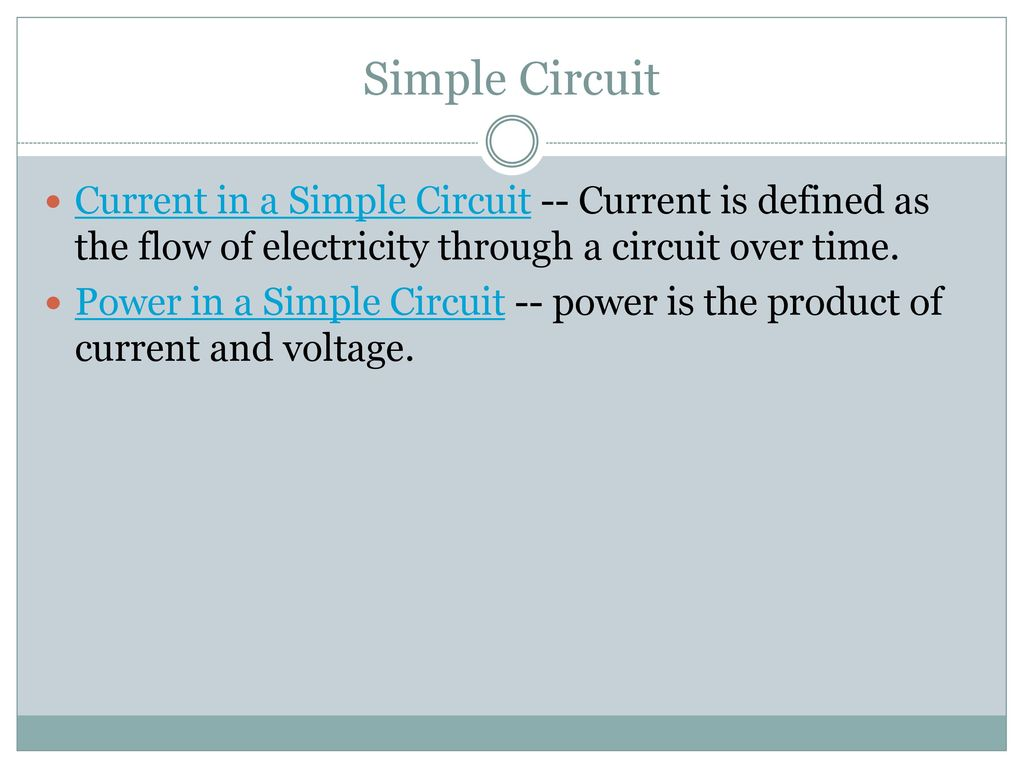 Electronics Circuits. - ppt download
