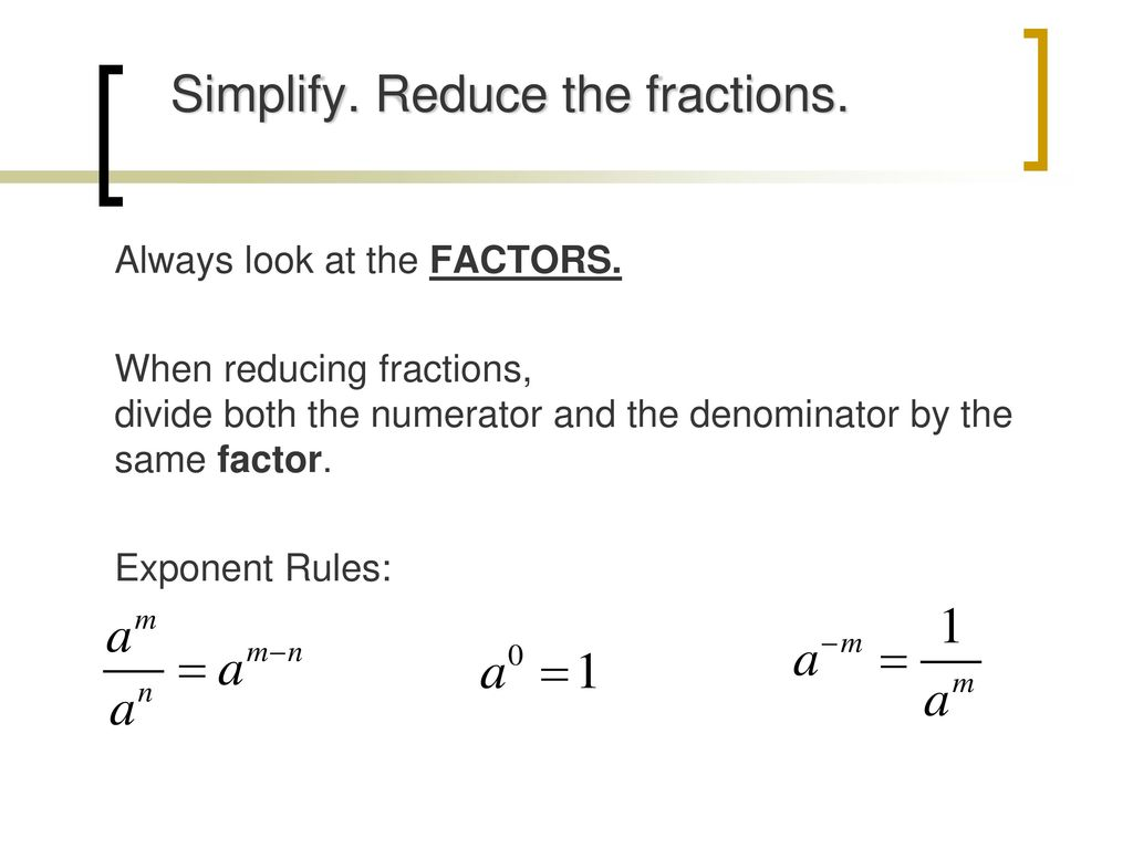 algebraic fractions simplify rational expressions - ppt download