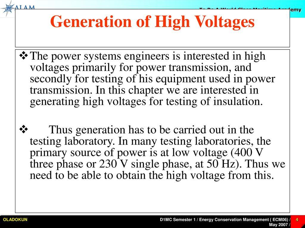 Introduction High Voltage Ppt Download 120 Kv Fullwave Multiplier Circuit Generation Of Voltages