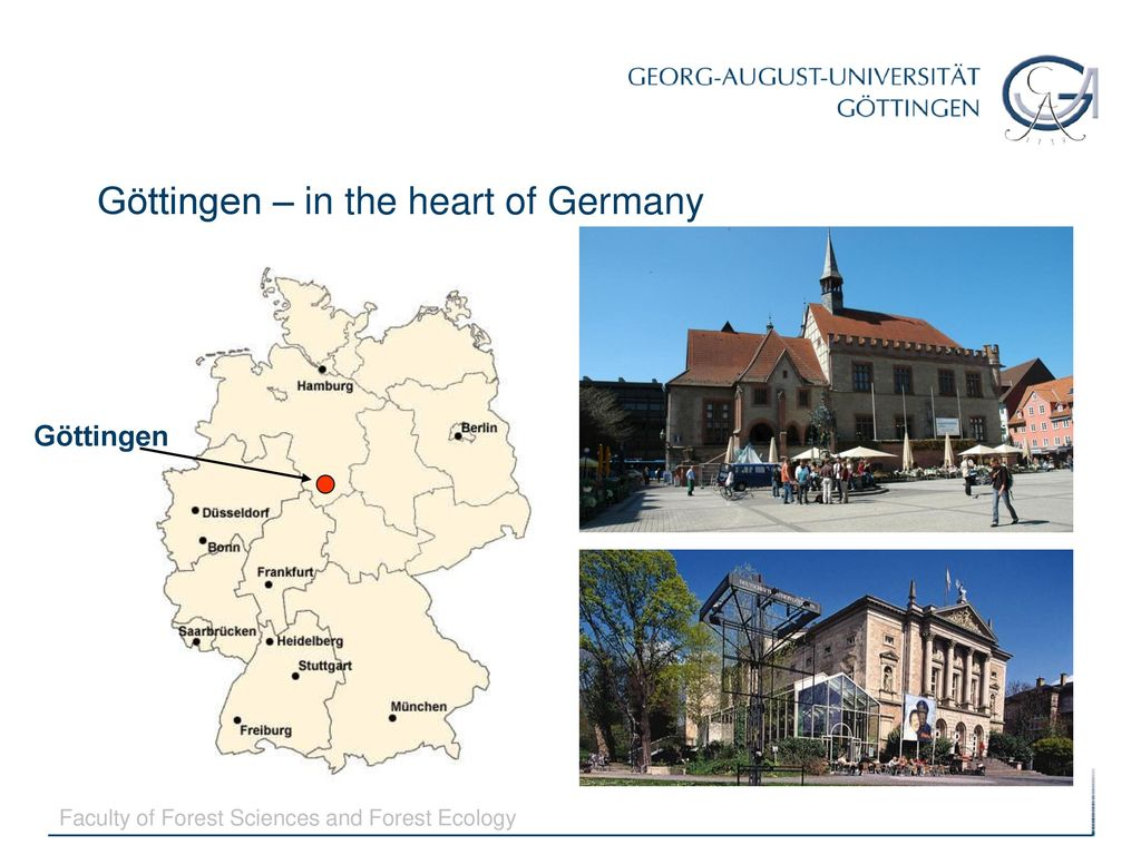 Map Of Germany Gottingen.Gottingen In The Heart Of Germany Ppt Download