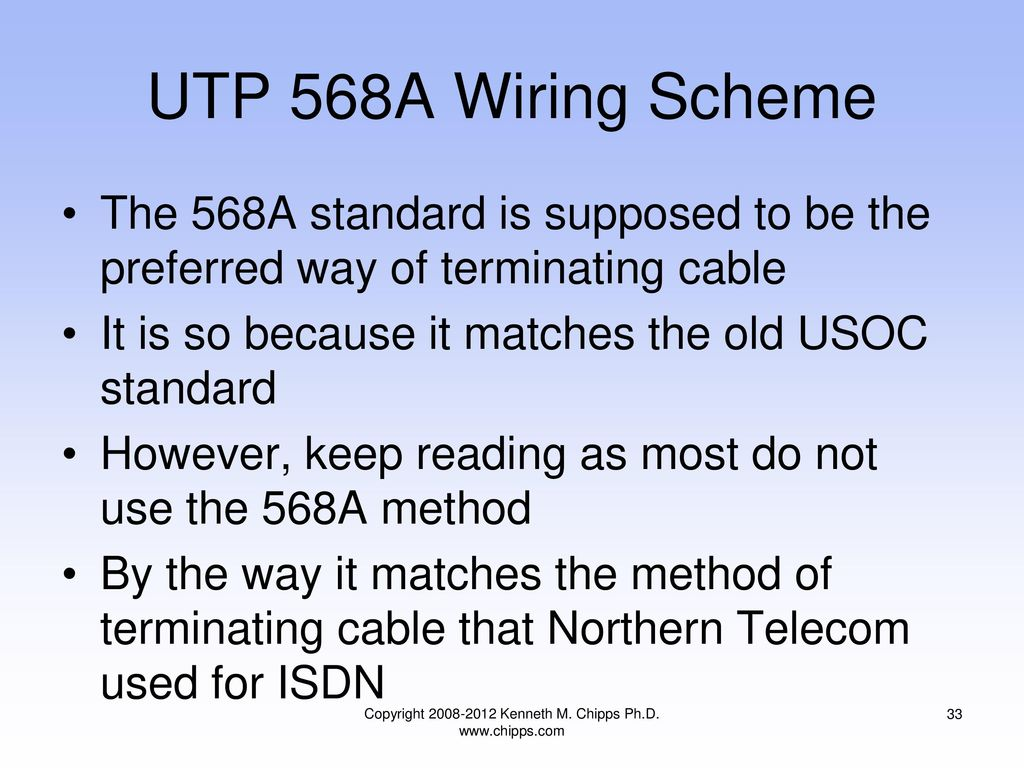 Terminating Copper Media Last Update Ppt Download Usoc Wiring Diagram T568b 33 Copyright