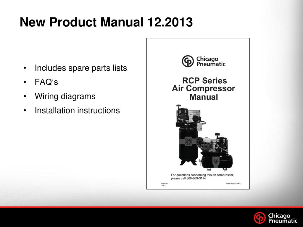 New Product Manual Includes spare parts lists FAQ's