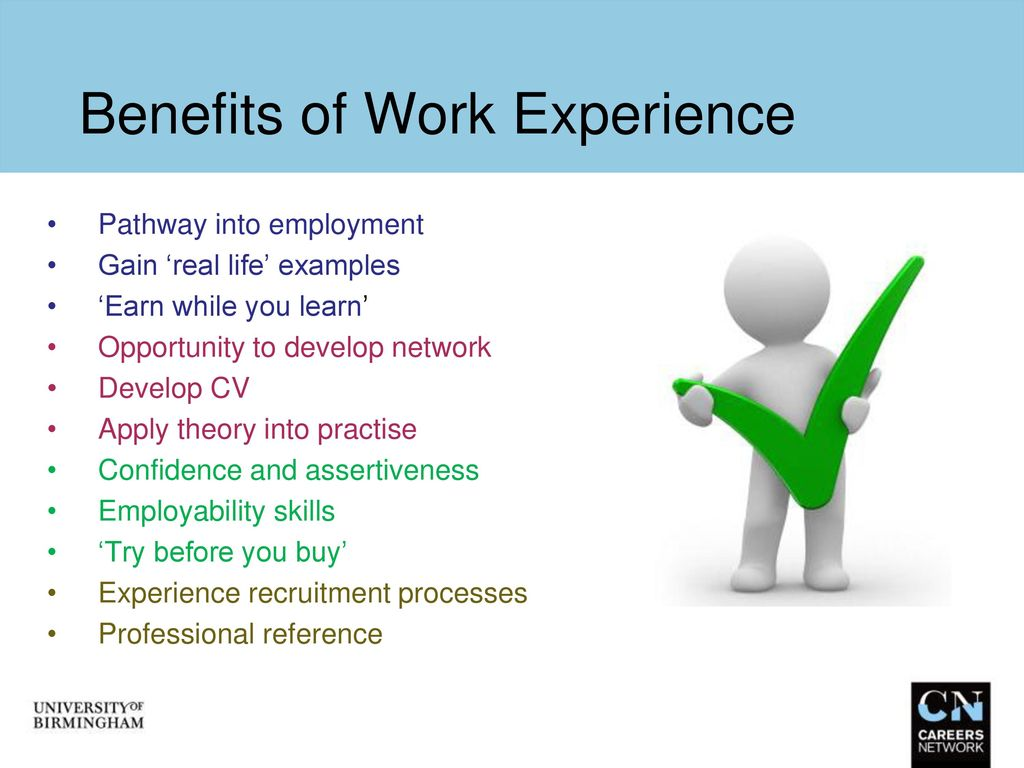 Work Experience In Scientific Services Ppt Download