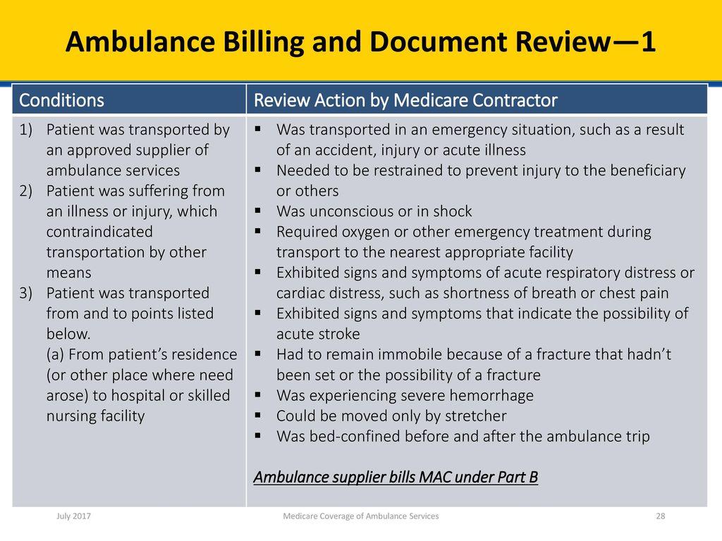 Medicare Coverage of Ambulance Services - ppt download