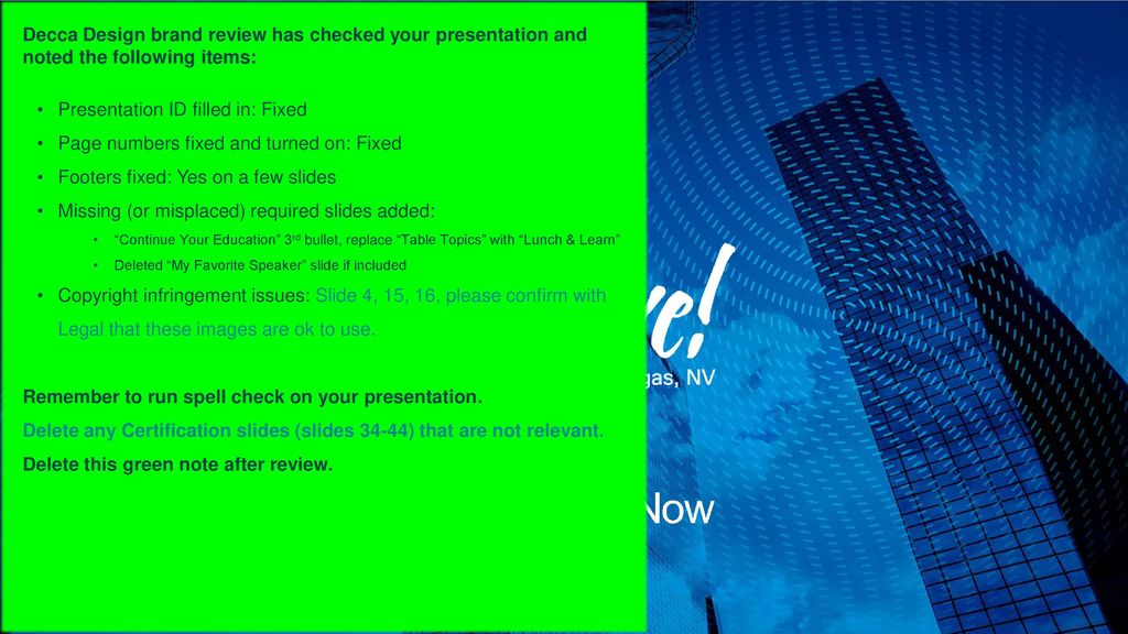 Presentation ID filled in: Fixed - ppt download