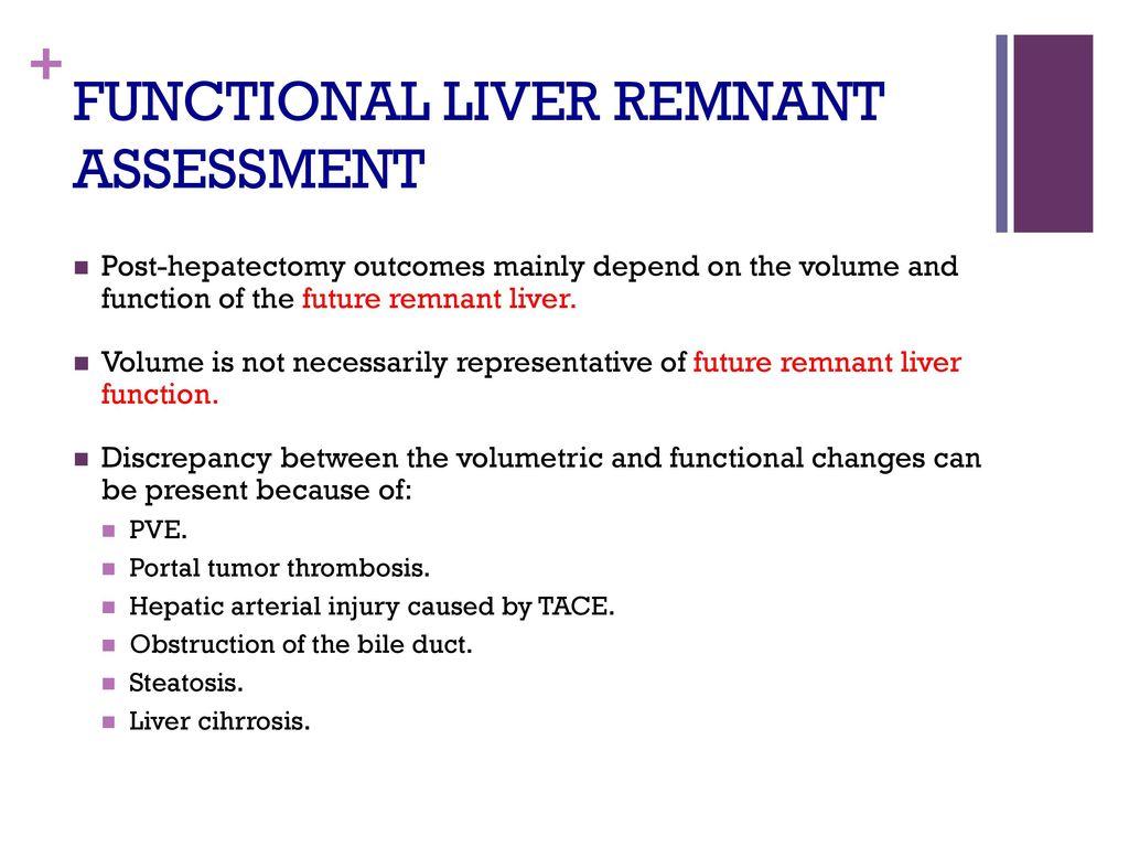 Functional Liver Remnant Assessment Ppt Download