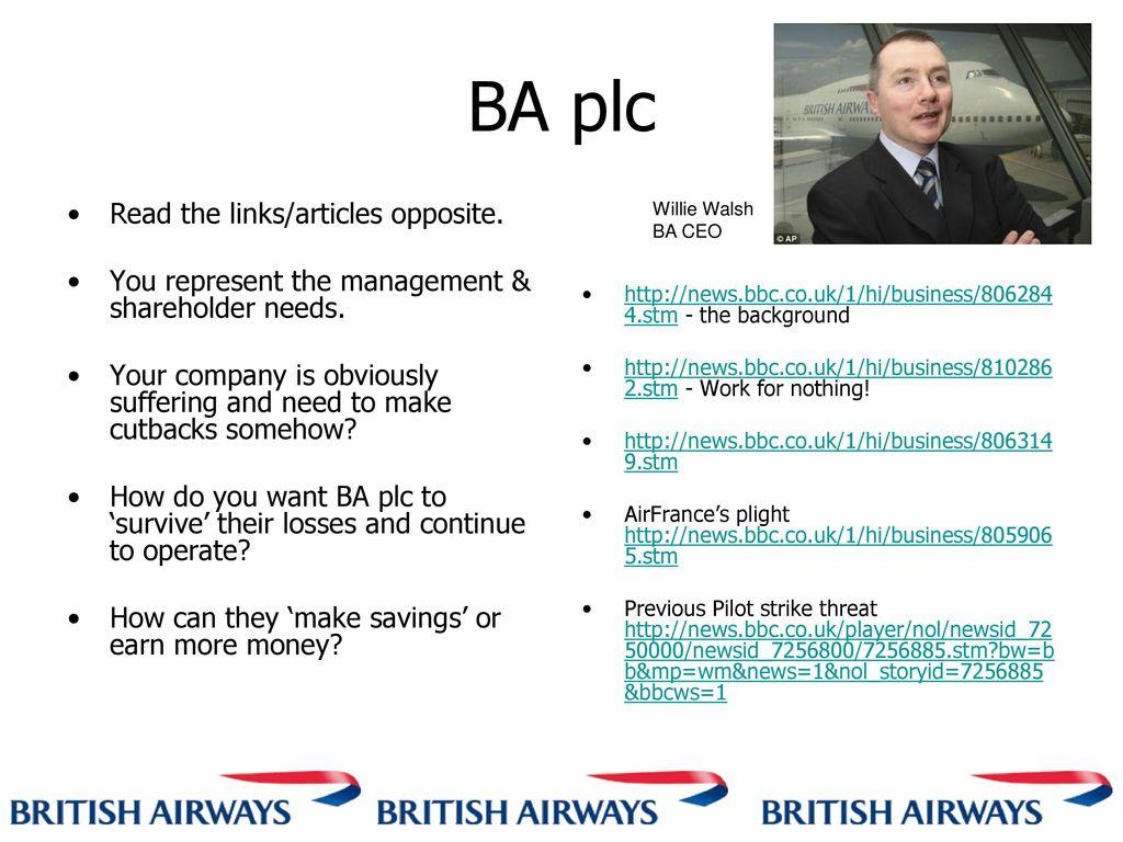 British Airways Employer / Employee relations - ppt download