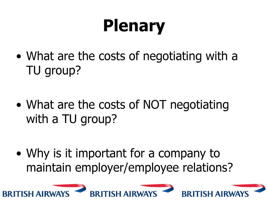 Employment relations within british airways essay