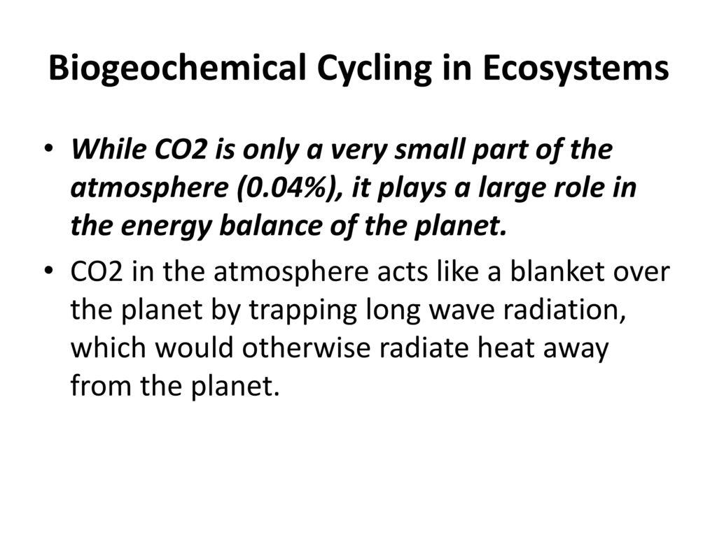 Biogeochemical Cycling in Ecosystems