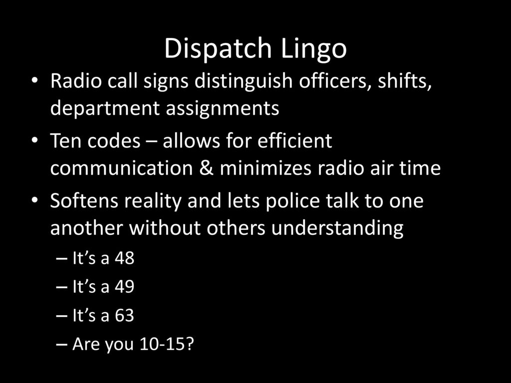 Police Communications - ppt download