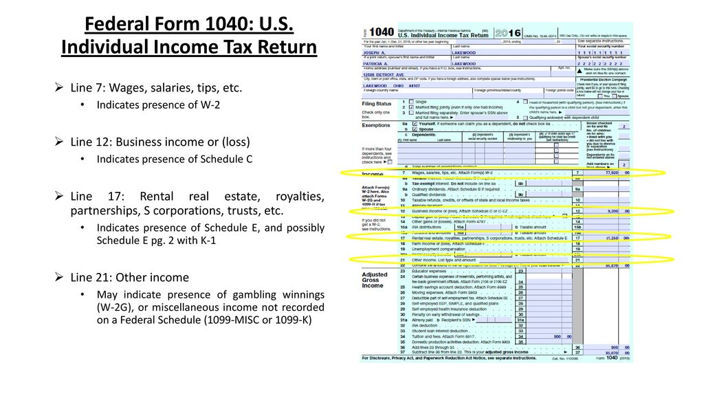 Reviewing Individual Returns Ppt Download