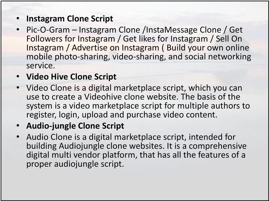 How Clone Script Products are Useful to Entrepreneurs? - ppt download