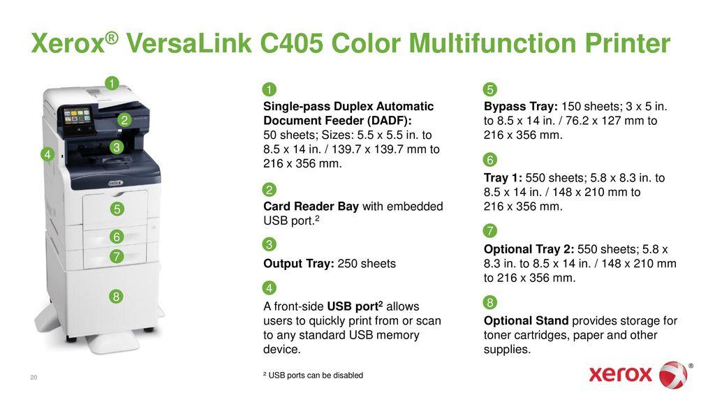 Xerox® VersaLink® C400 Color Printer and Xerox® VersaLink