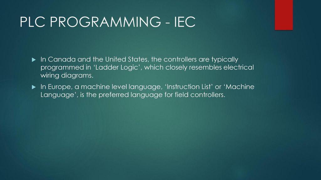 Lesson 1 C PLC PROGRAMMING  - ppt download