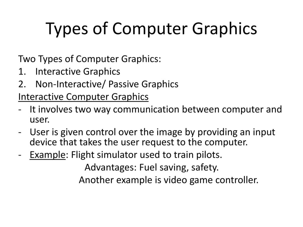 Computer Graphics Lecture 1 Introduction to Computer