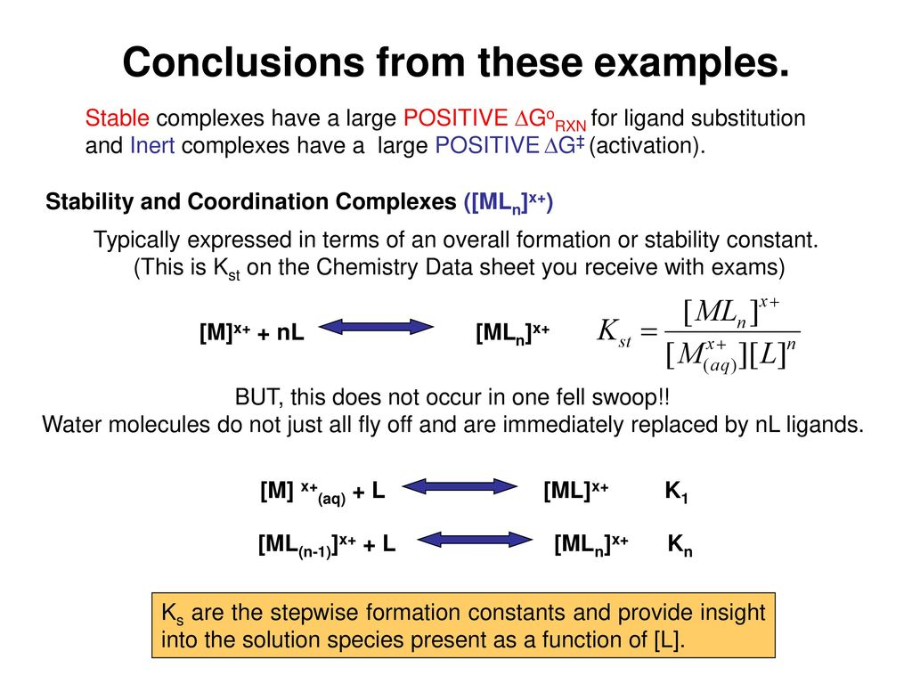 Formation and Reactions of TM Complexes - ppt download