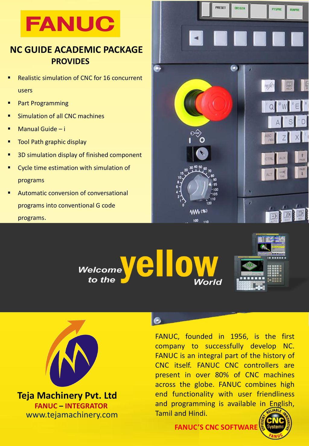 a NC GUIDE ACADEMIC PACKAGE Teja Machinery Pvt  Ltd provides