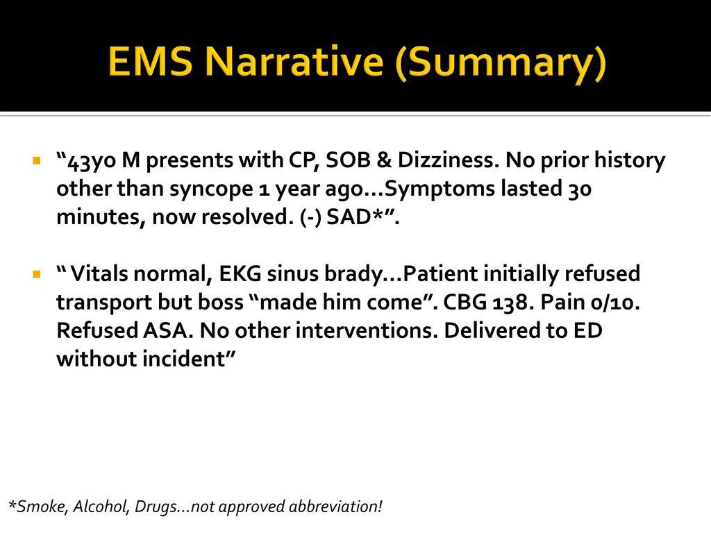 EMS Case Reviews Patient Follow Ups