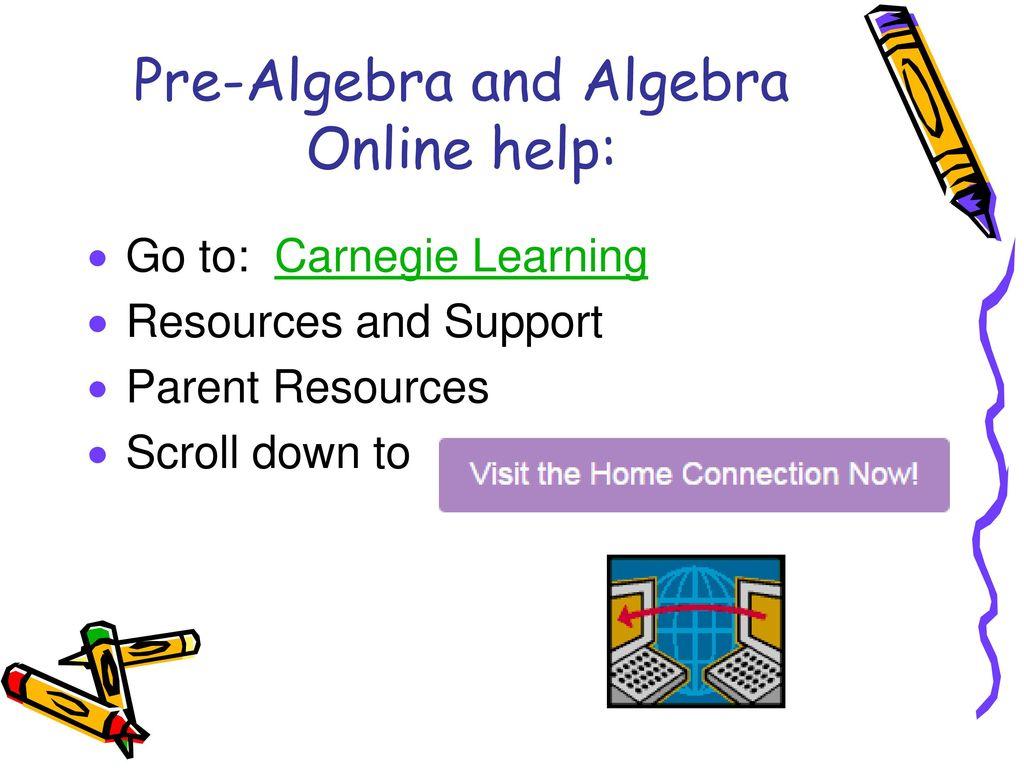 Mrs Robinson Th Grade Math  Ppt Download Prealgebra And Algebra Online Help