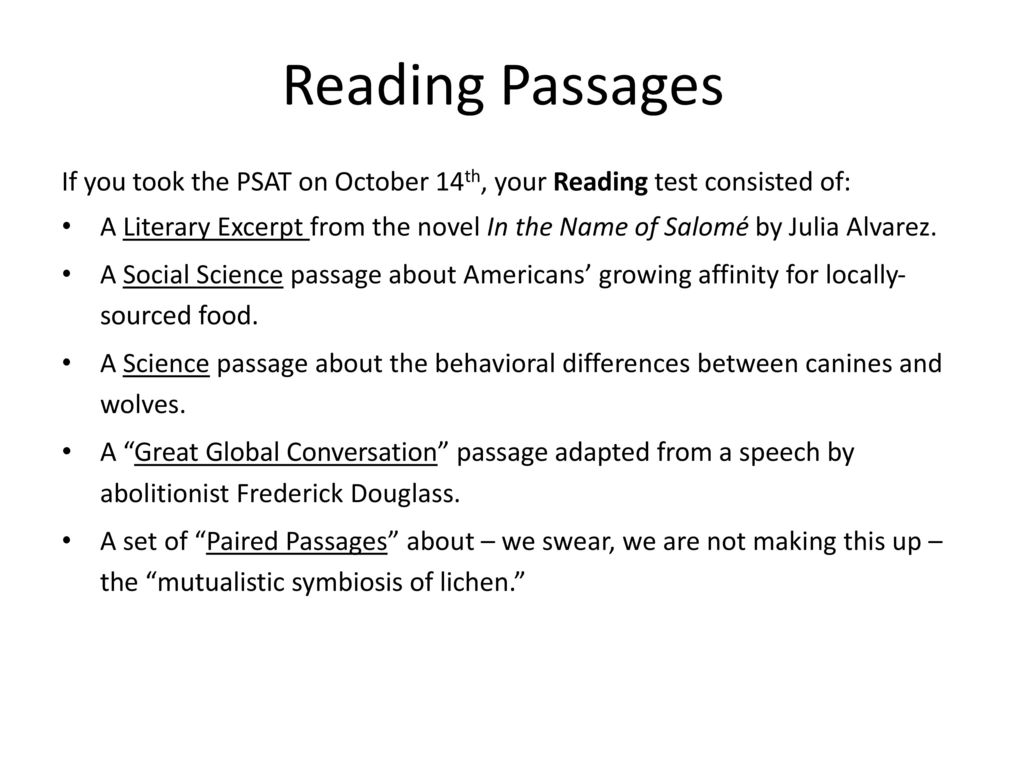 Things you need to learn October 2015 concerning the PSAT set-to debut