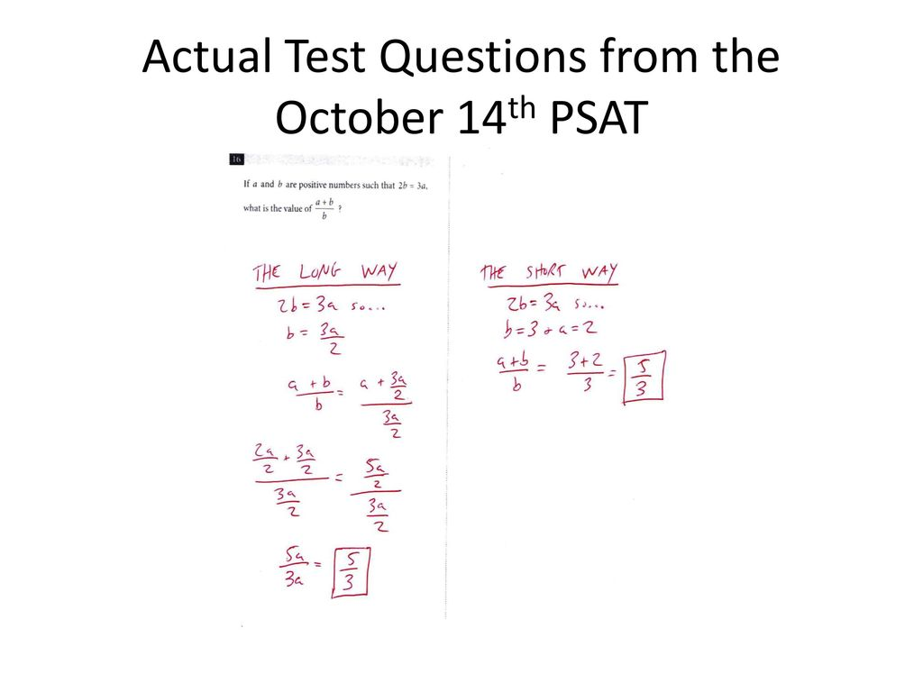 The thing you need to understand March 2015, regarding the redesigned PSAT set-to debut