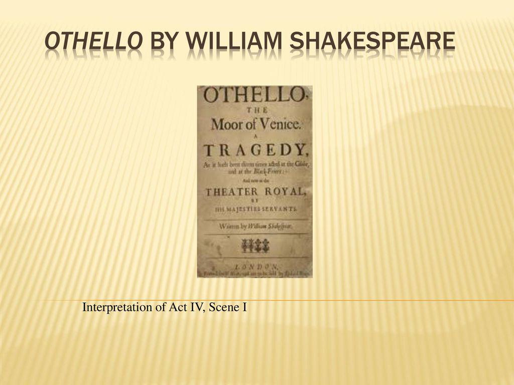 othello act 4 scene 1 analysis