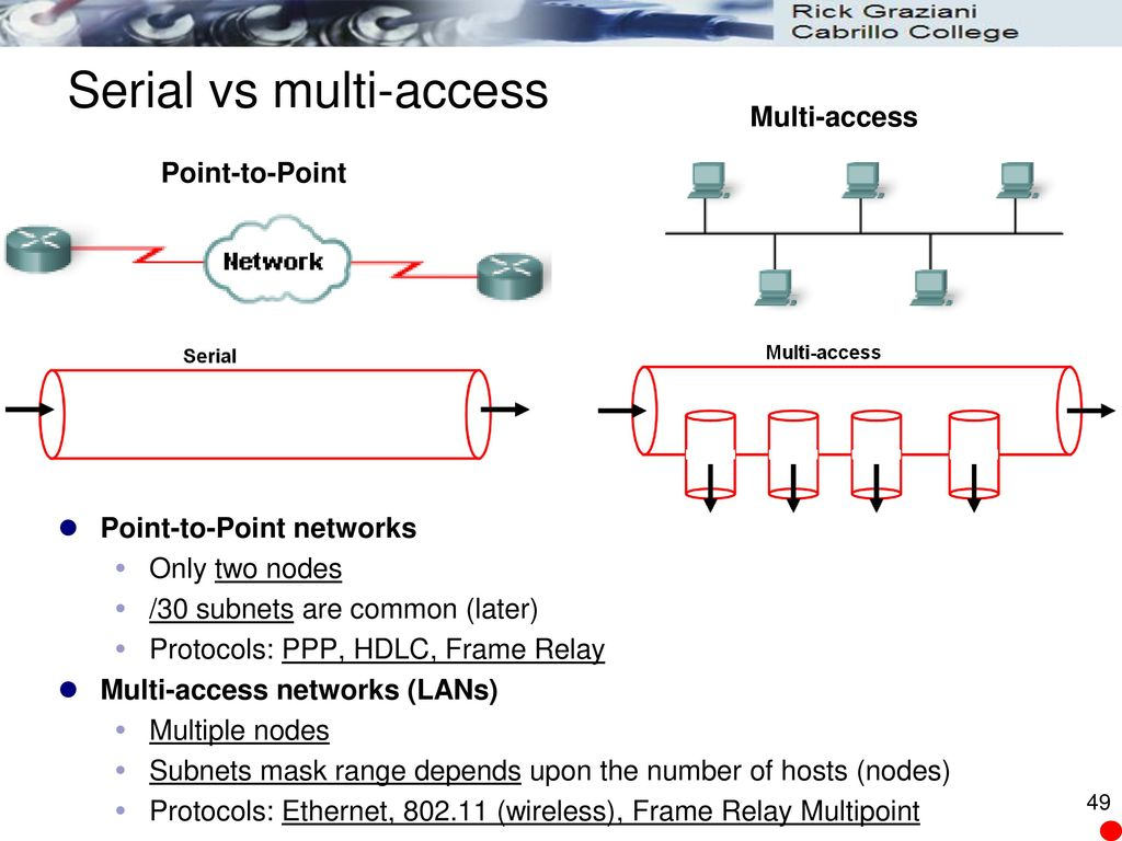 CIS 81 Fundamentals of Networking Chapter 4: Network Access