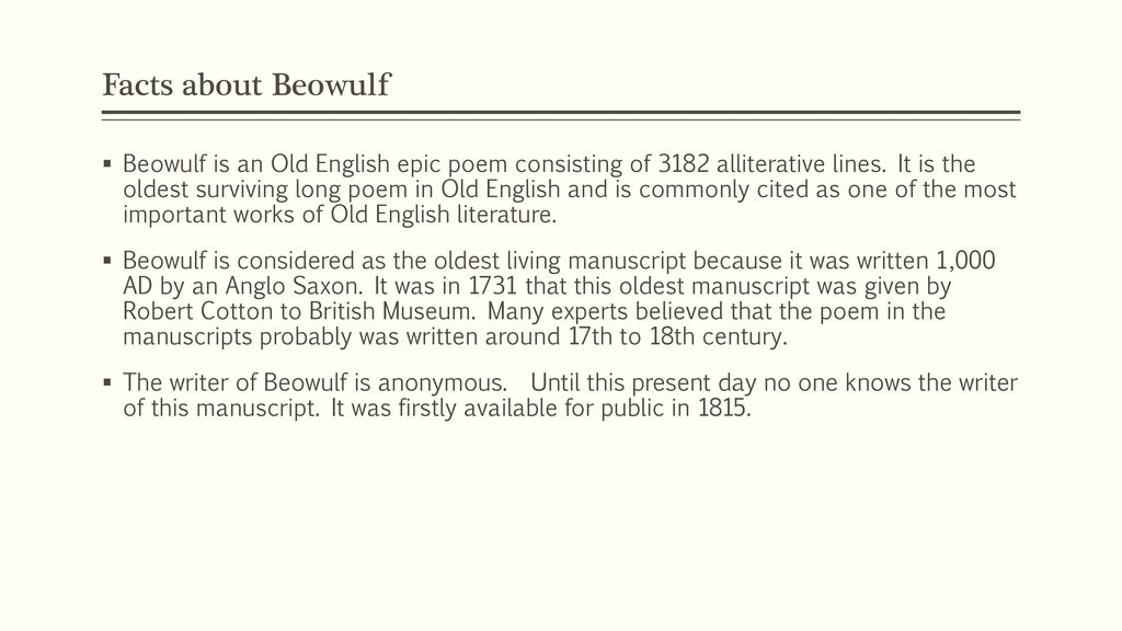 beowulf a new telling by robert nye ppt download rh slideplayer com Beowulf Study Guide Printable Beowulf Study Guide Answers