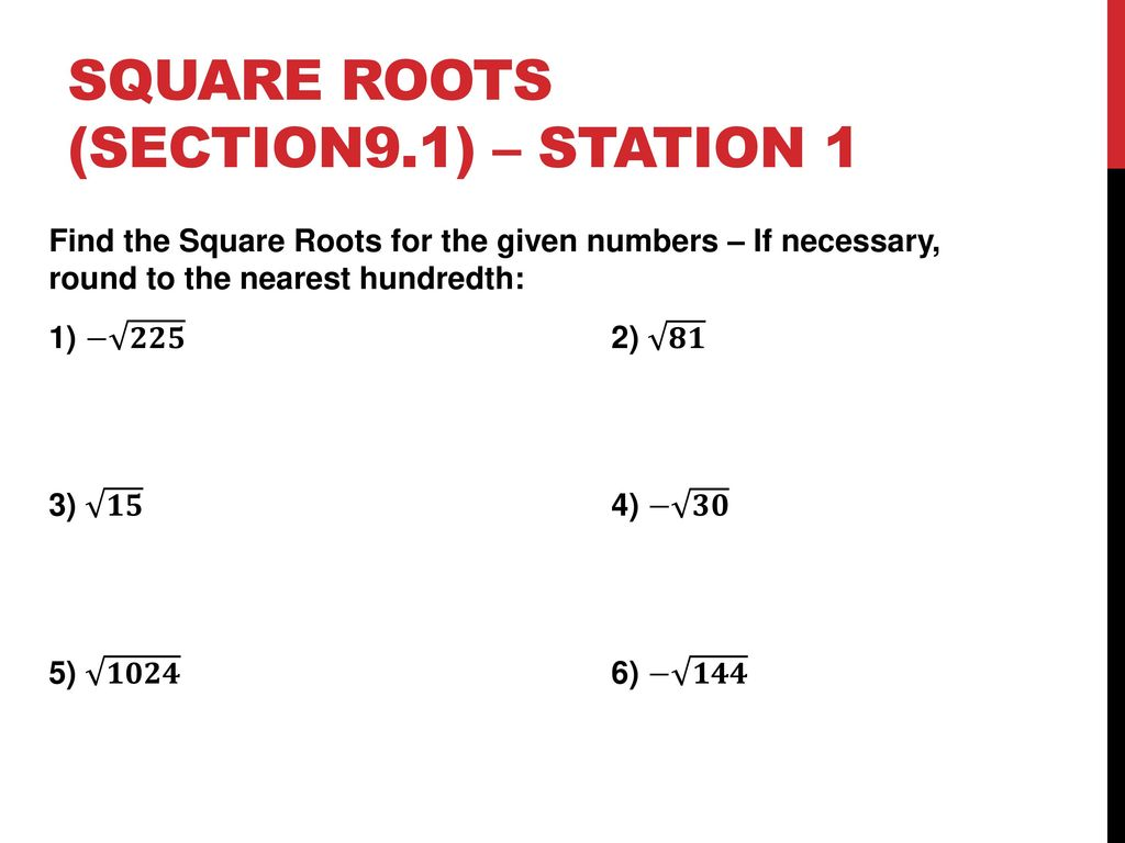 Square Root Rational Irrational Pythagorean Theorem Around The World Review You Will Be Completing Review Stations For Square Root Rational Irrational Ppt Download We already know the fact, if an irrational number is multiplied by a rational number, the product is irrational. square root rational irrational ppt