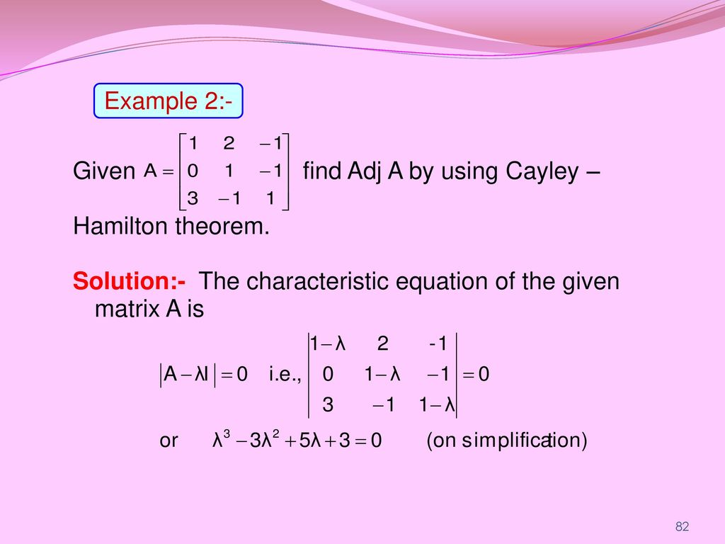 Cayley hamilton theorem and inverse youtube.