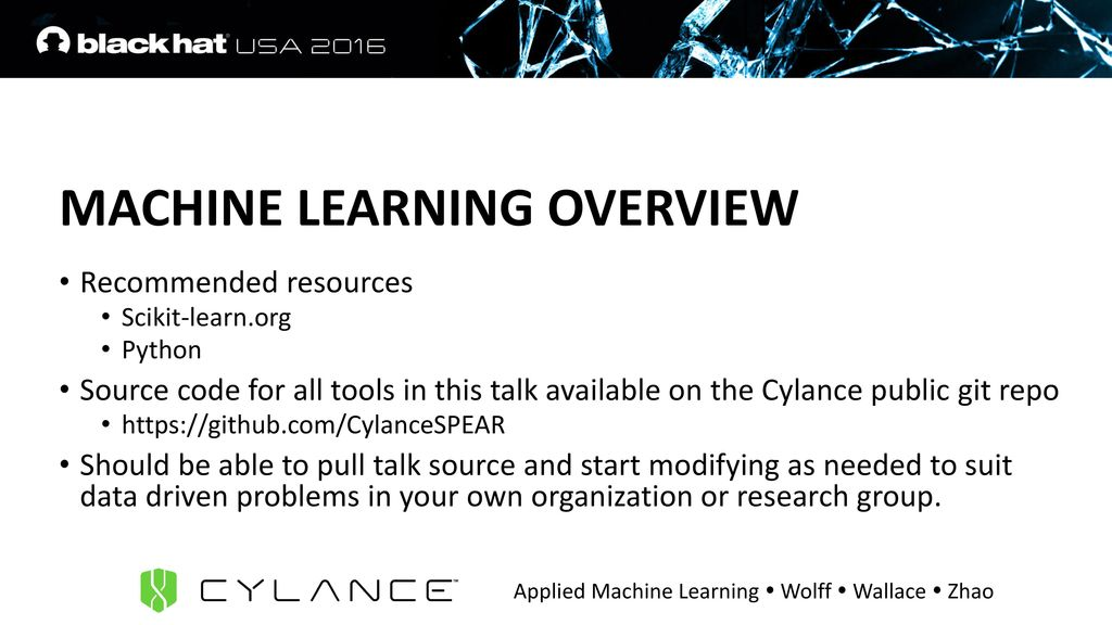 APPLIED MACHINE LEARNING FOR DATA EXFIL AND OTHER - ppt download
