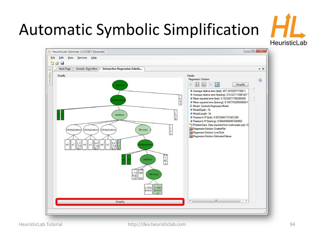 Algorithm And Experiment Design With Heuristiclab Ppt Download