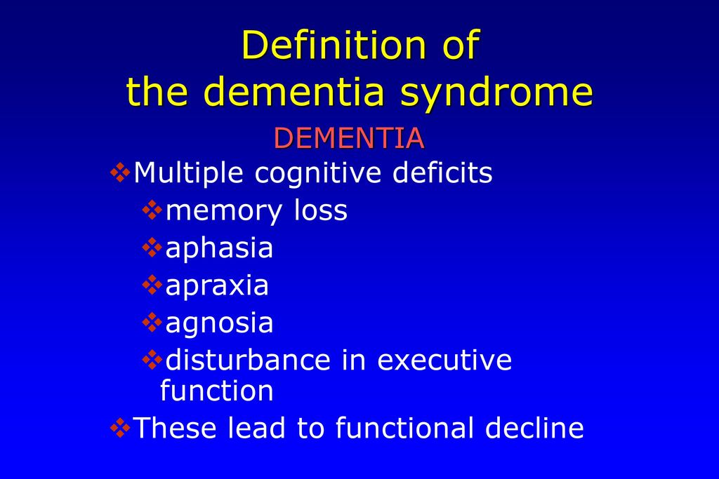 describe a range of cause of dementia syndrome 11 describe a range of causes of dementia syndrome: dementia may be caused by : alcoholism, brain injury, drug abuse, side effects to certain medication, thyroid function abnormalities,vitamin b12 deficiency, in korsakoffs, prolonged alcohol abuse is to blame, in vascular dementia, clots and strokes cause abnormal functioning to the the.