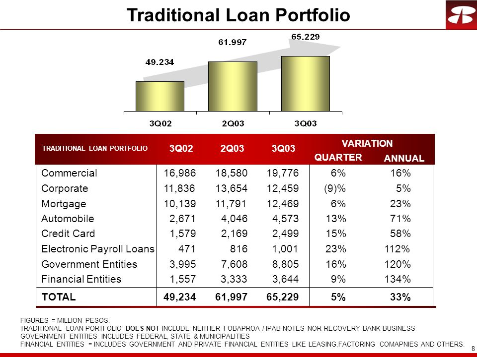 Traditional Loan Portfolio