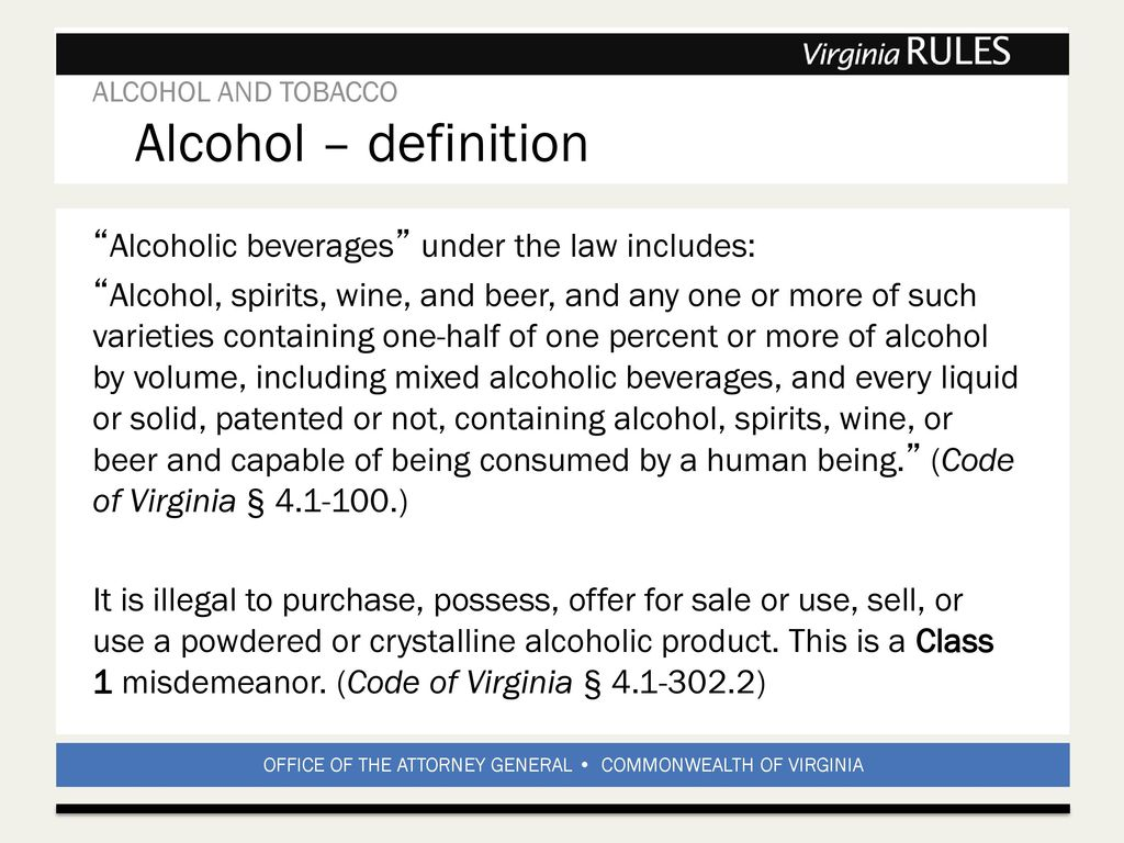 alcohol and tobacco. - ppt download