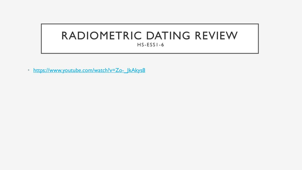 Radiometric dating bozeman