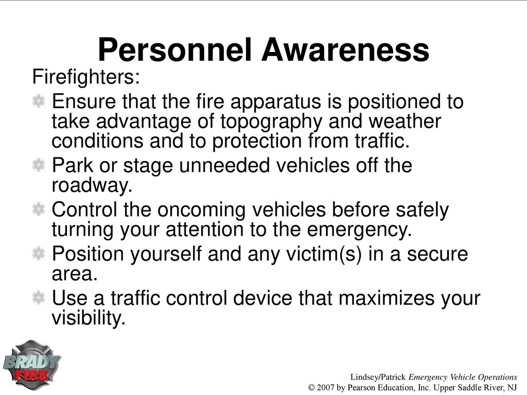 Chapter 9 Roadway Operations Ppt Download Fire Engines Diagram Traffic Cone 64 Personnel Awareness Firefighters Ensure That The Apparatus