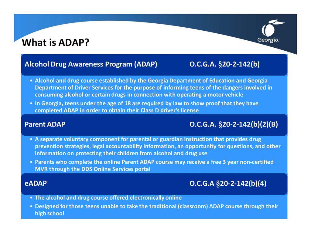 Alcohol And Drug Awareness Program Adap Training Ppt Download