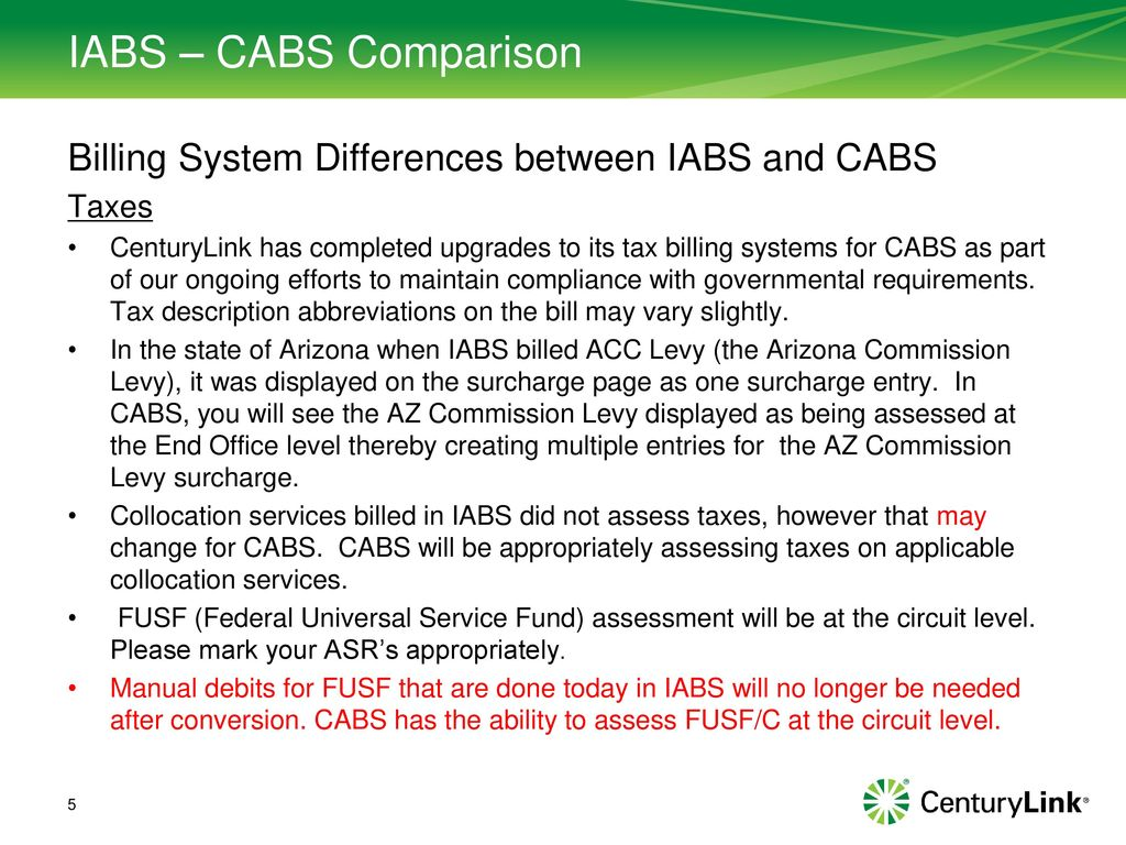 IABS to CABS Comparison - ppt download