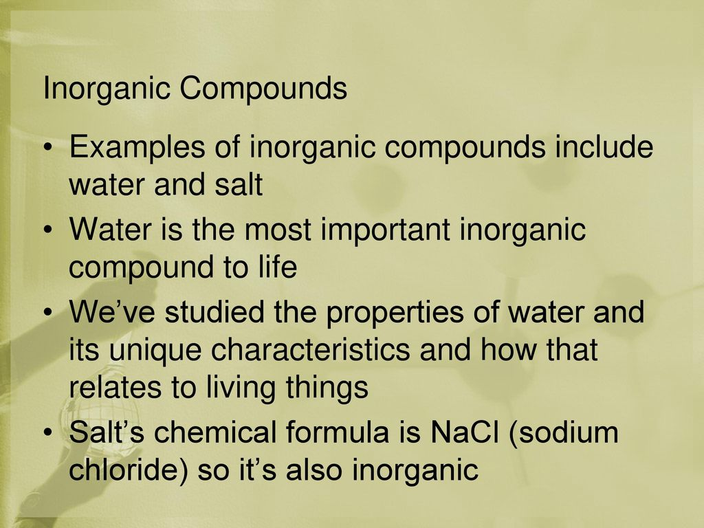 Chemistry Of Life Chapter Ppt Download