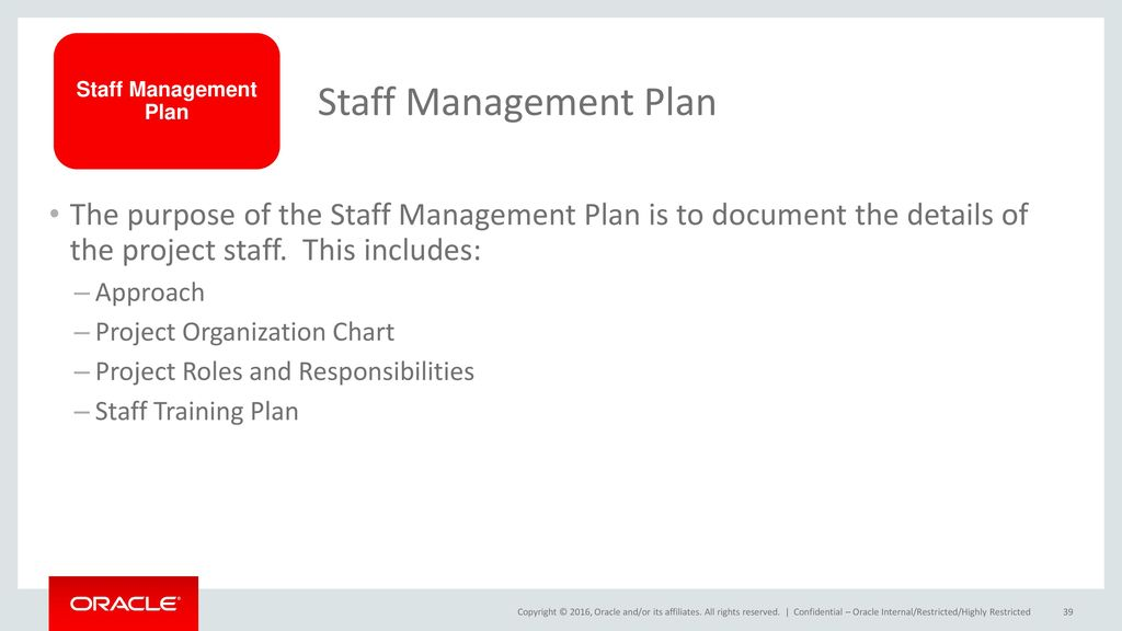 39 Staff Management Plan