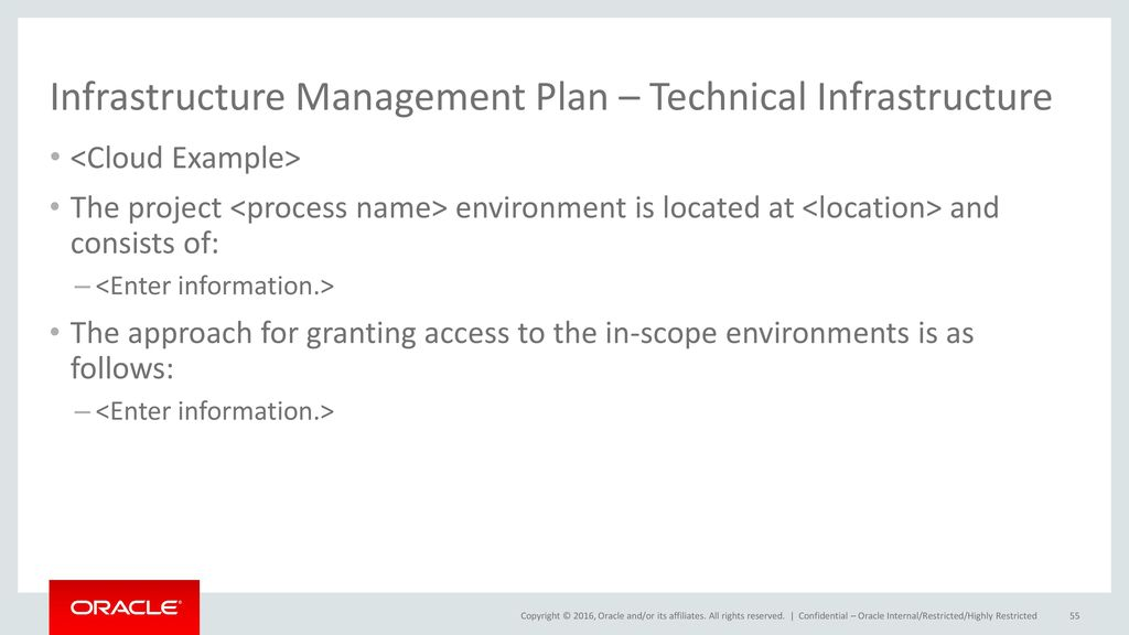 technical infrastructure plan