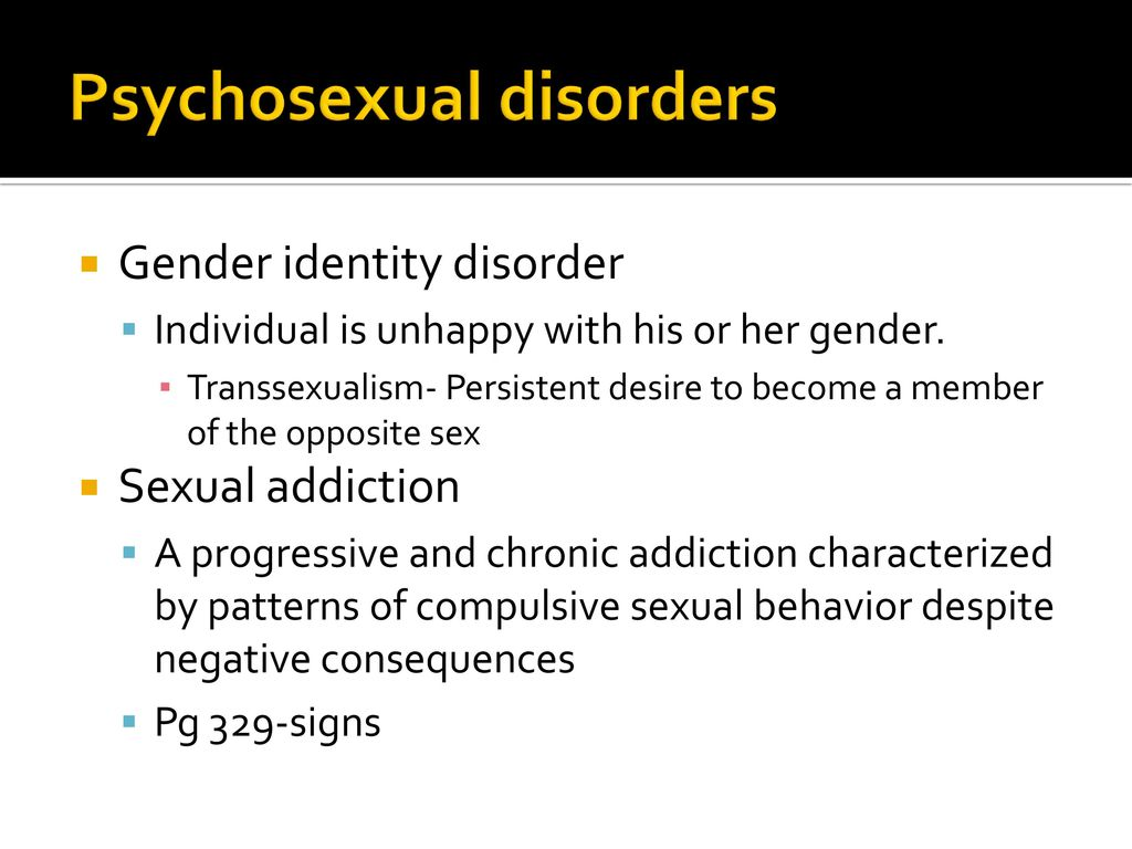 Psychosexual disorders ppt