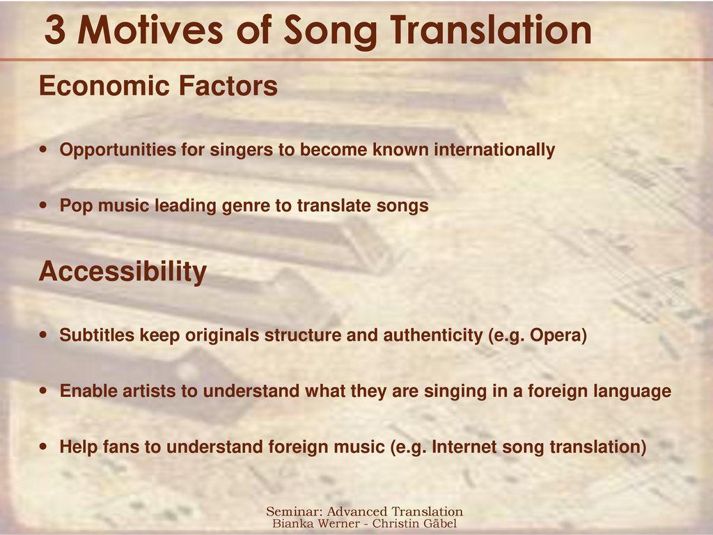 song translation s2ss english department seminar advanced